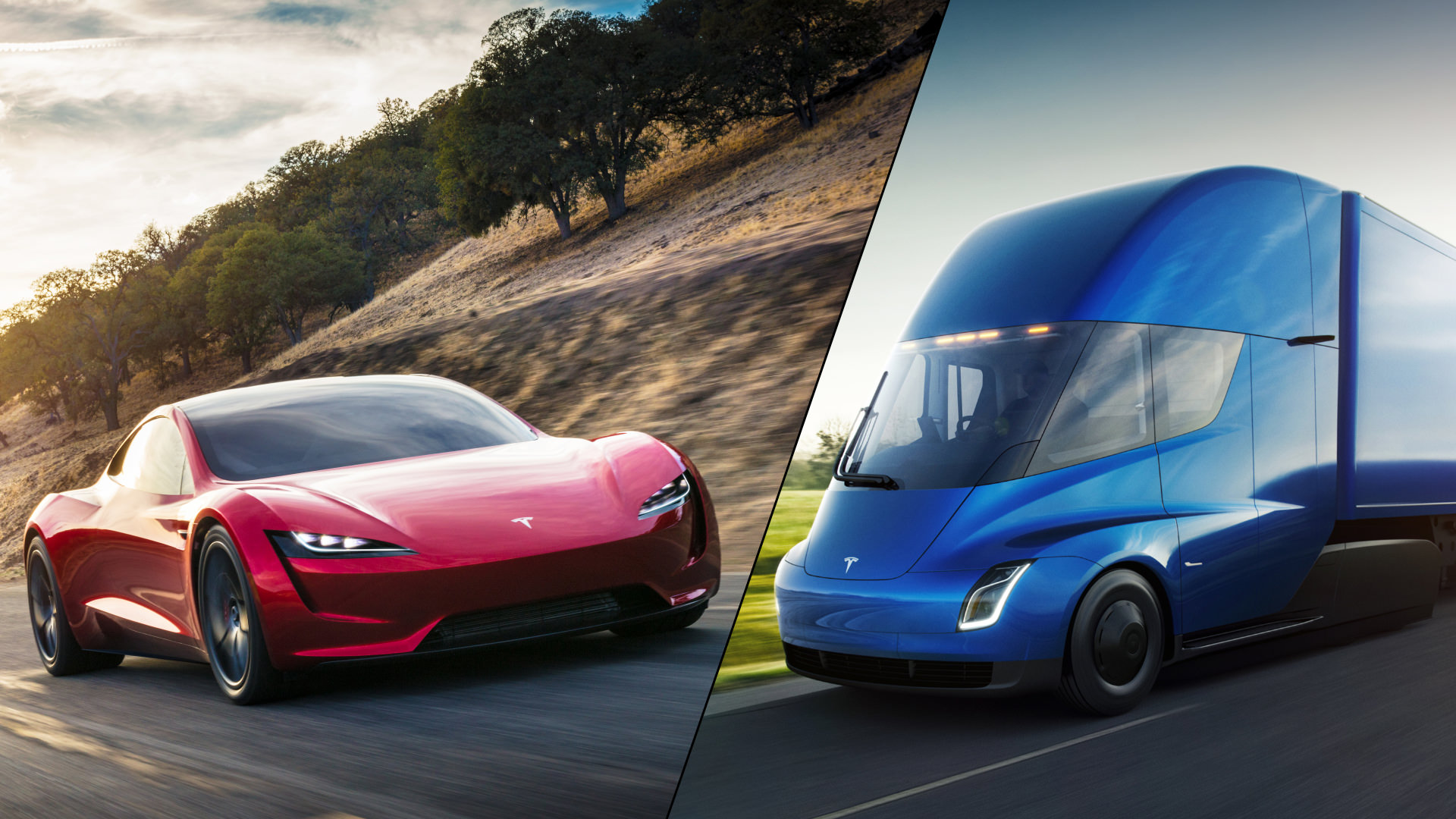 tesla semi roadster