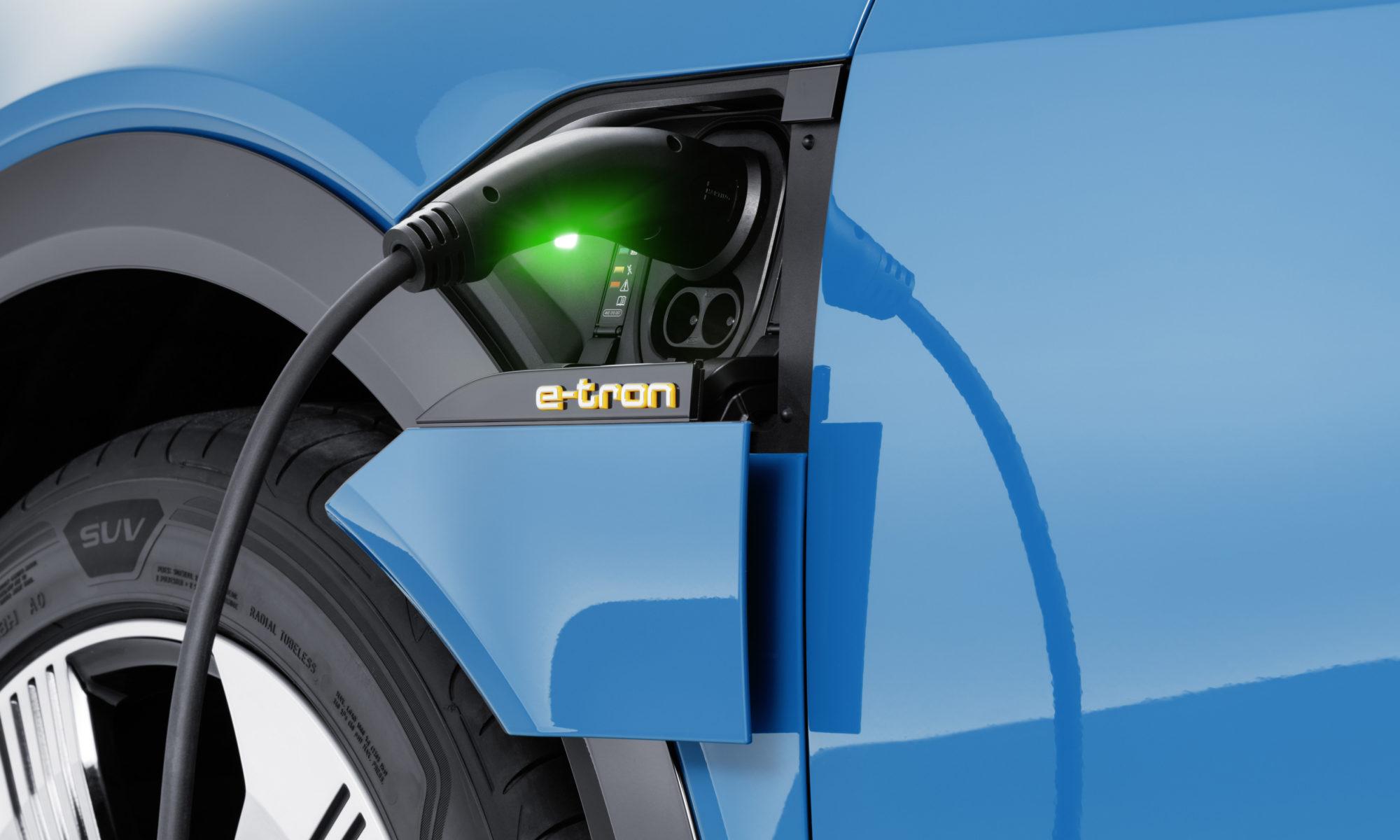 Audi e-tron Ladeklappe