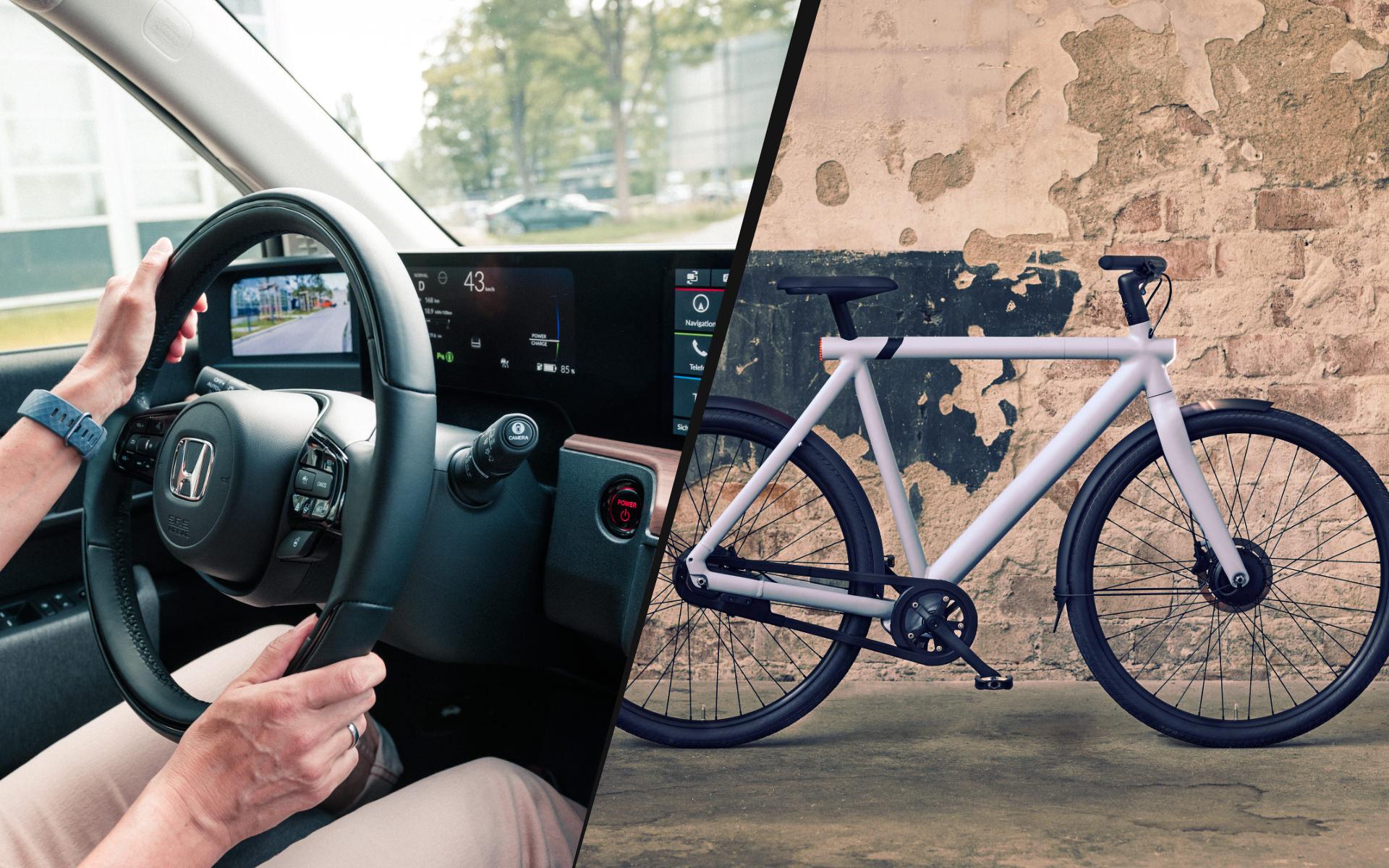 Honda e und VanMoof S3
